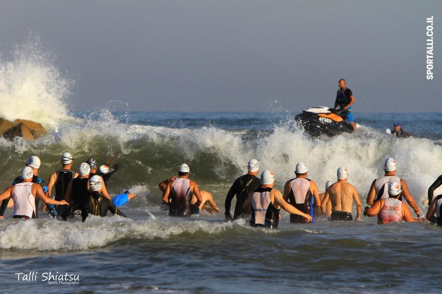 טריאתלט מתחיל | טריאתלון תל אביב הזינוק לים