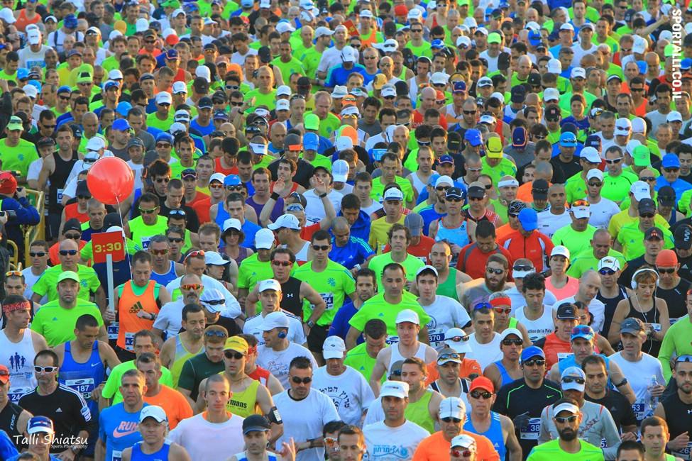 צילום: טלי שיאצו | זינוק מרתון תל אביב